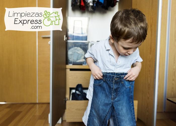 como limpiar armario niños