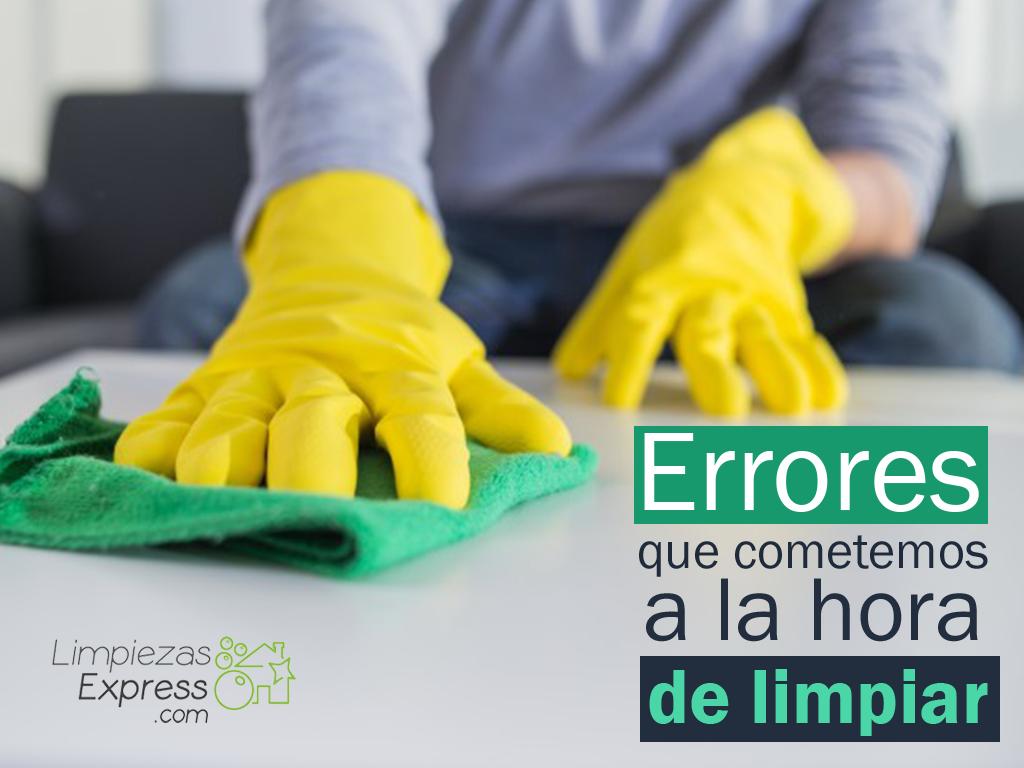 errores al hacer limpieza