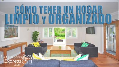 hogar limpio y organizado