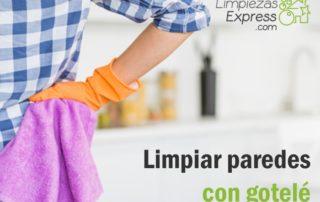 limpiar paredes gotelé