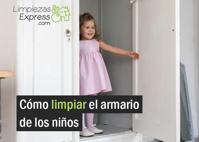limpiar armario niños