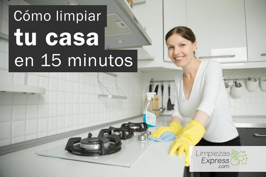 limpiar la casa en 15 minutos