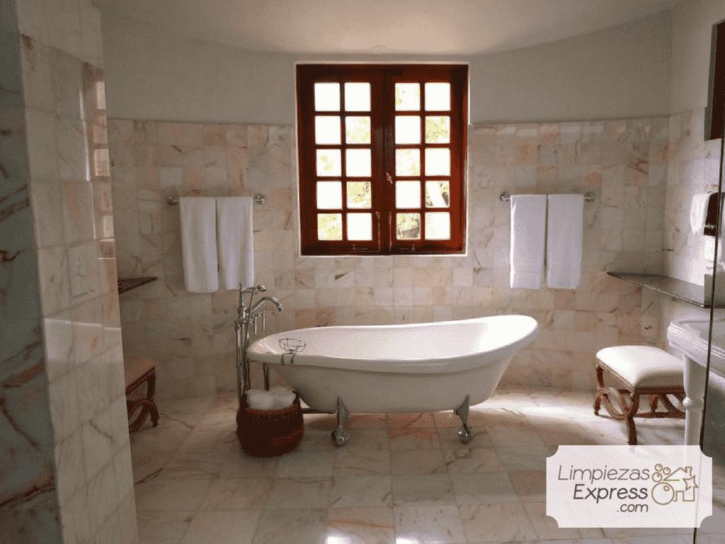 limpieza baño despues de obra