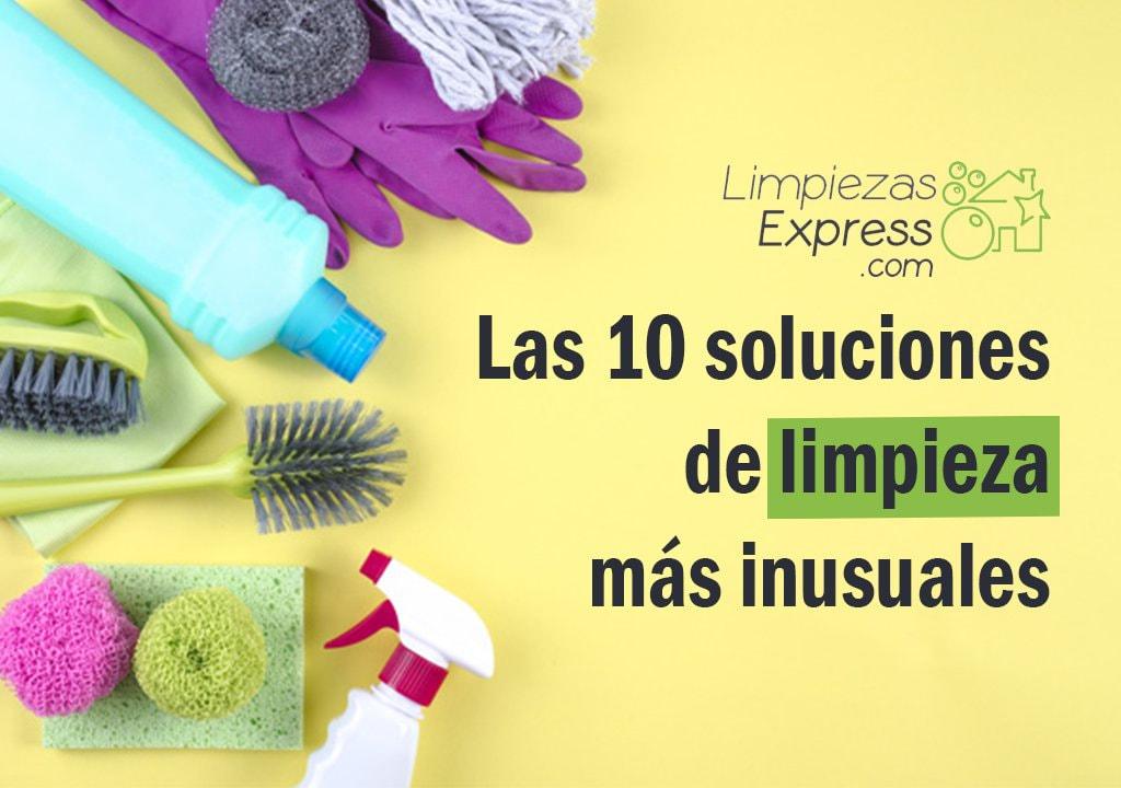 soluciones inusuales de limpieza